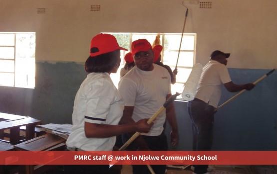 PMRC staff @ work in Njolwe Community School