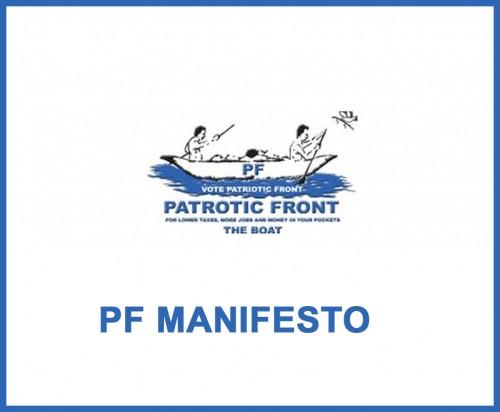PF manifesto