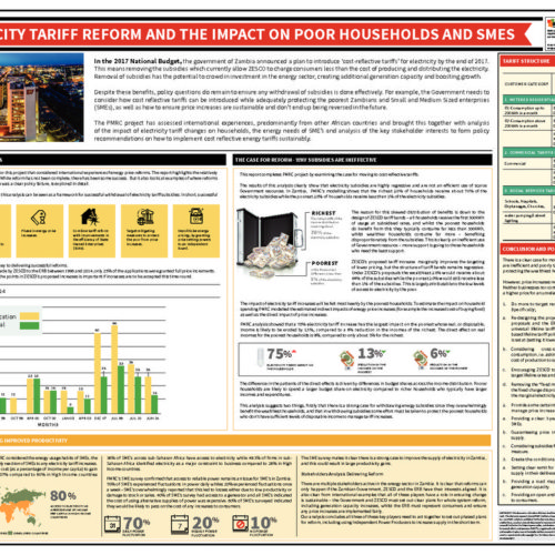 Electricty Tariff reform and the impact on poor households and SMES-  Infographic
