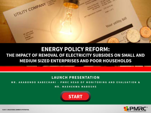 Energy Policy Reform – Presentation