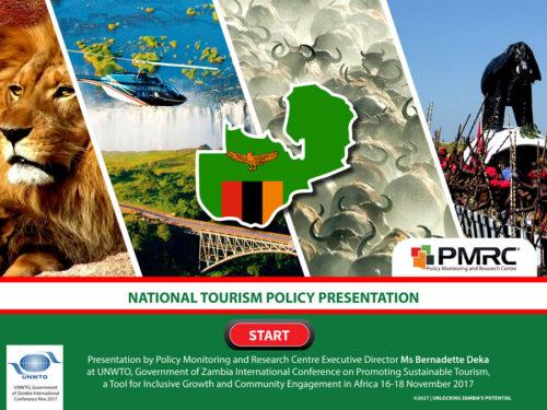 National Tourism Policy – Presentation to UNWTO