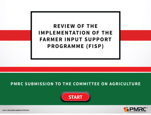 Review of the Implementation of the Farmer input Support Programme FISP
