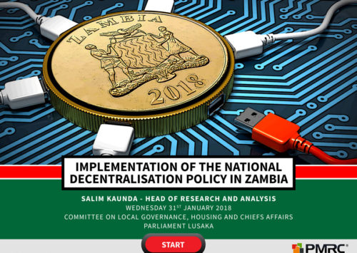 Implementation of the National Decentralisation Policy in Zambia – BLOG