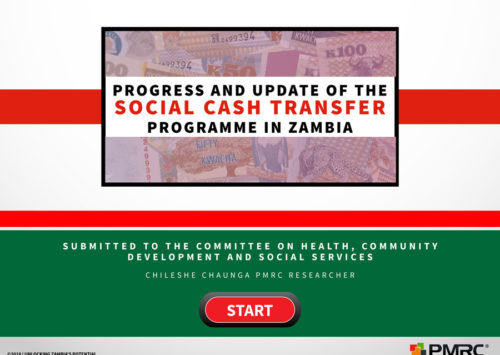 Progress and Update of the Social Cash Transfer Programme in Zambia – BLOG