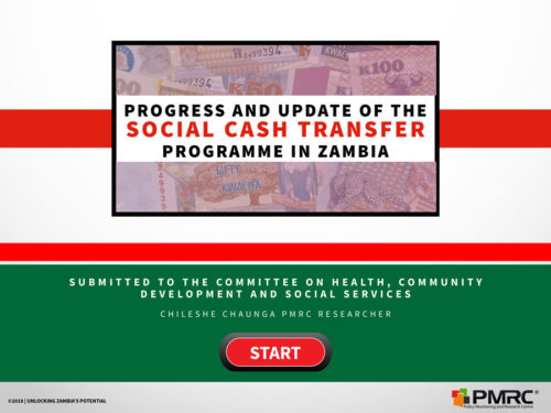 Progress and Update of the Social Cash Transfer Programme in Zambia – Parliament Presentation