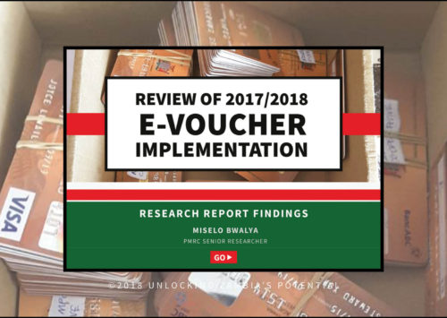 Research Findings of the Implementation of e-voucher in the 2017/2018 farming season.
