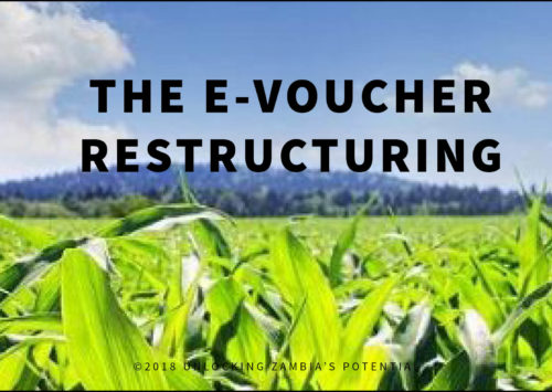BLOG – The E Voucher restructuring – Towards a SMART 2018:19 Farming Season