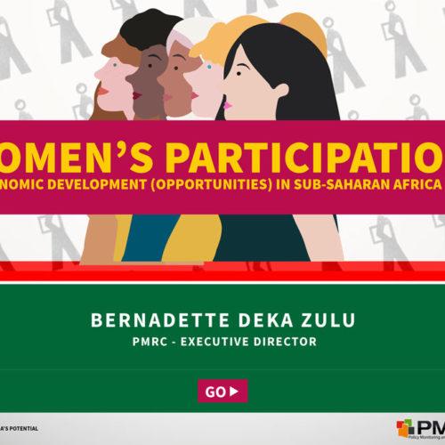 Women's Participation in Economic Development (opportunities) in Sub-Saharan Africa (SSA) – Presentation